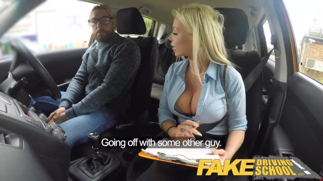 Achievement of adult learner Fake driving school busty blonde barbie sins wants learners cum on test