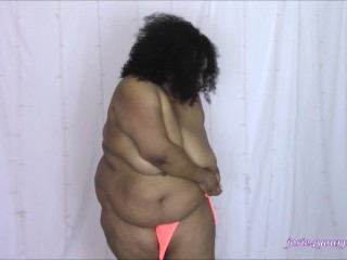 BBW and Her Neon Orange Bikini HD MP4