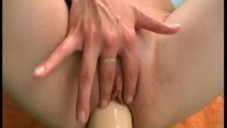 And brutal fucking amateur dildo a fat russian gaping brunette dildo