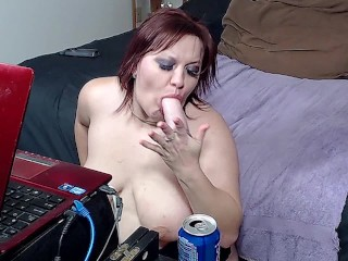Extreme Deepthroat Sloppy BJ Dildo - ALHANA WINTER - I Can Take Your Cock