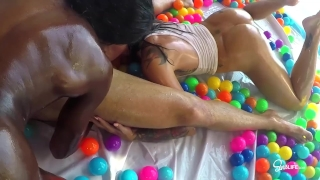 SinsLife Sex Tour: Ana Foxxx, Kissa and Johnny, Oiled Hardcore in Ball Pit! Raven leigh