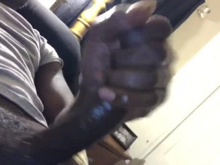 Young Black DL Thug Teen Maturbates Big Black Cock BBC