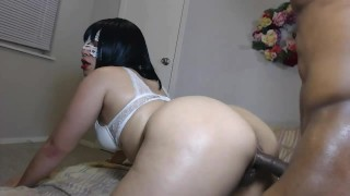 Big booty daughter get's pounded hard by huge cock while daddy's at work!