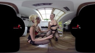 StockingsVR - Slut starring Victoria Puppy and Mandy Paradise
