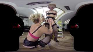 StockingsVR - Slut starring Victoria Puppy and Mandy Paradise