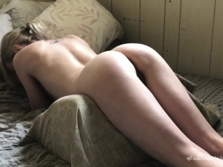 Slim young blonde gets her pussy stretched (Teaser for our latest video)