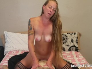 Sexy MILF Roxy Karmikel's first ever porn video!
