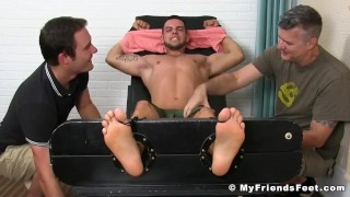 W sexy dudes two christian tickle pervy and restrain jock bondage brunette