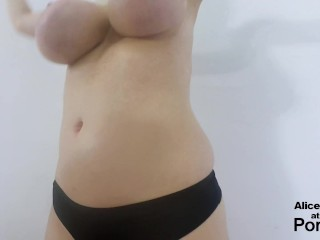 Preview 6 of F Cup Boobs Bounce So Hard they Clap !