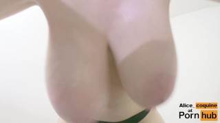 F Cup Boobs Bounce So Hard they Clap ! Pussy foookibabe
