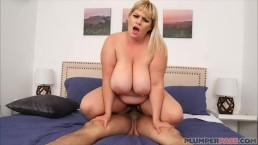 Sexy Plumper MILF Tiffany Blake Rides Huge Cock
