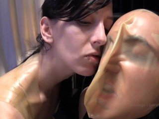 Elise Graves Tortures Man in Heavy Bondage with INTENSE Breath Control!