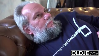 Grandpa orgasm him  his yo and swallowing cumshot fucking helps gave by fucking teasing