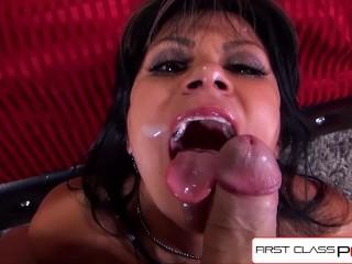 FirstClassPOV - Watch MILF Gabby Quinteros sucking a big dick, big boobs