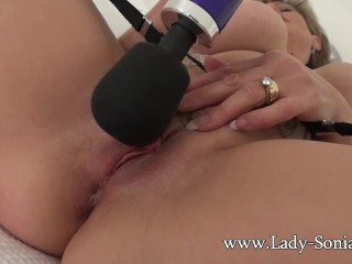 Watching Sonia's Tight Cunt Clench And Spasm As she Orgasms