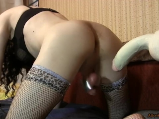 Sissy squirt from anal sex and vise on the balls