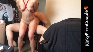 Tied Choked Out and Rough Fucked with Multiple Orgasms