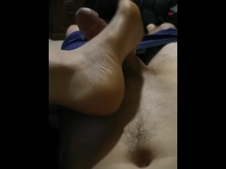 Footjob While Gaming