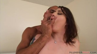 AVN Award Winning BBW Angel Deluca Loves Carlos Cock  plumperpass big boobs chubby