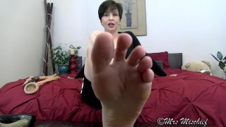 My Whole Foot in your mouth foot fetish POV for true sole slaves