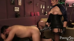 Domina Jemma's Giant Black Strap-On - Divine Fucking Cock