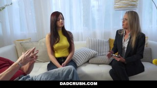Preview 4 of DadCrush - Teen Fucks Stepdad While Therapist Watches