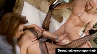 Curvy Cougar Deauxma Gets Pussy Dick In Hot 3way Fuckfest