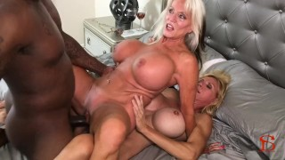 Black Piped Sally D'angelo Brooke Tyler Deepthroating doggystyle