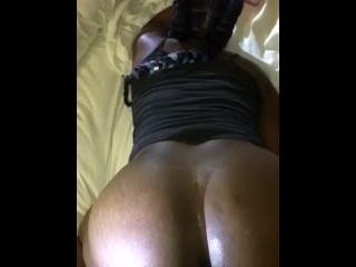 Pussy gets super wet from big dick backshots