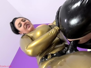 Shawna Lenee Tube8 Latex bitchboy pegging
