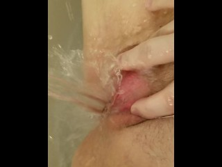 Water squirt orgasm