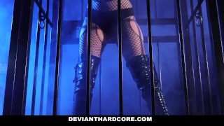 DeviantHardCore - Blonde Slut Caged Up & Dominated Rim fucking
