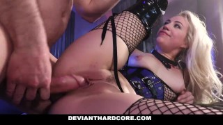 DeviantHardCore - Blonde Slut Caged Up & Dominated International amateur
