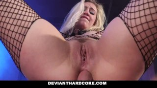 DeviantHardCore - Blonde Slut Caged Up & Dominated Hardcore lesbian