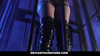 DeviantHardCore - Blonde Slut Caged Up & Dominated Itoshino aino