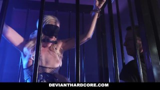 Caged up blonde dominated slut devianthardcore jail devianthardcore