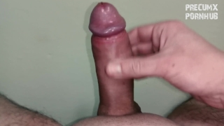 Lots of precum and big thick cumshot