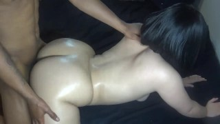 Slutty girl gets fucked after BF drop's her off from date