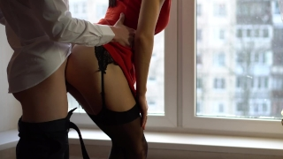 Wife In Red Dress And Stockings Cheating With Best Friend Before Party Young mydirtyhobby