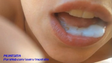 Mouth full of cum - Compilation - MONTSITA