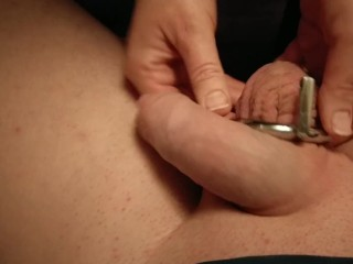 My wife installing Chastity cage