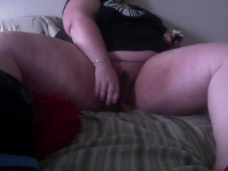 BBW smokes a bowl and has intense orgasm/// masturbation sesh