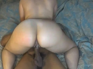 Big booty chick bounces her tight pussy on huge cock, perfect ass!