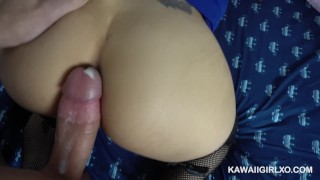 Preview 3 of Flight Attendant Takes Hard Cock In Her Ass And Pussy