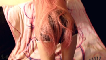 LONG PINK HAIRED TEEN FUCKED FROM THE BACK