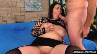 Big Tit Fat Girl Plays with Her Pussy and Fucks Muscle dothewife
