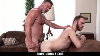 MormonBoyz - Muscle daddy priest breeds younger bishop's hole