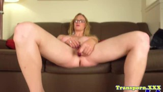 Mature postop shemale toying pussy on camera Hclip view