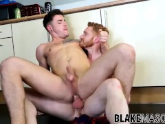 Ginger stud gets his ass rimmed and fucked by his friend