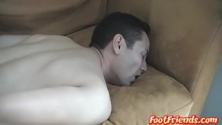 Gege sofa hard tickled gets a on twink bondage hot footfriends handcuffed